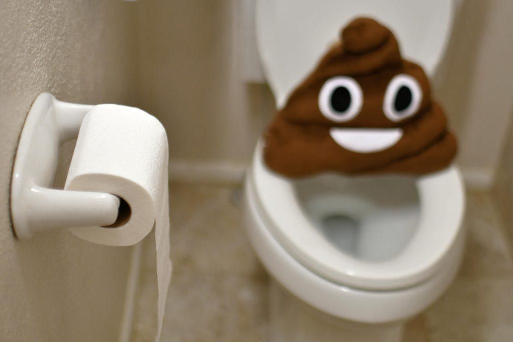 Тоалетна чиния с тоалетна хартия